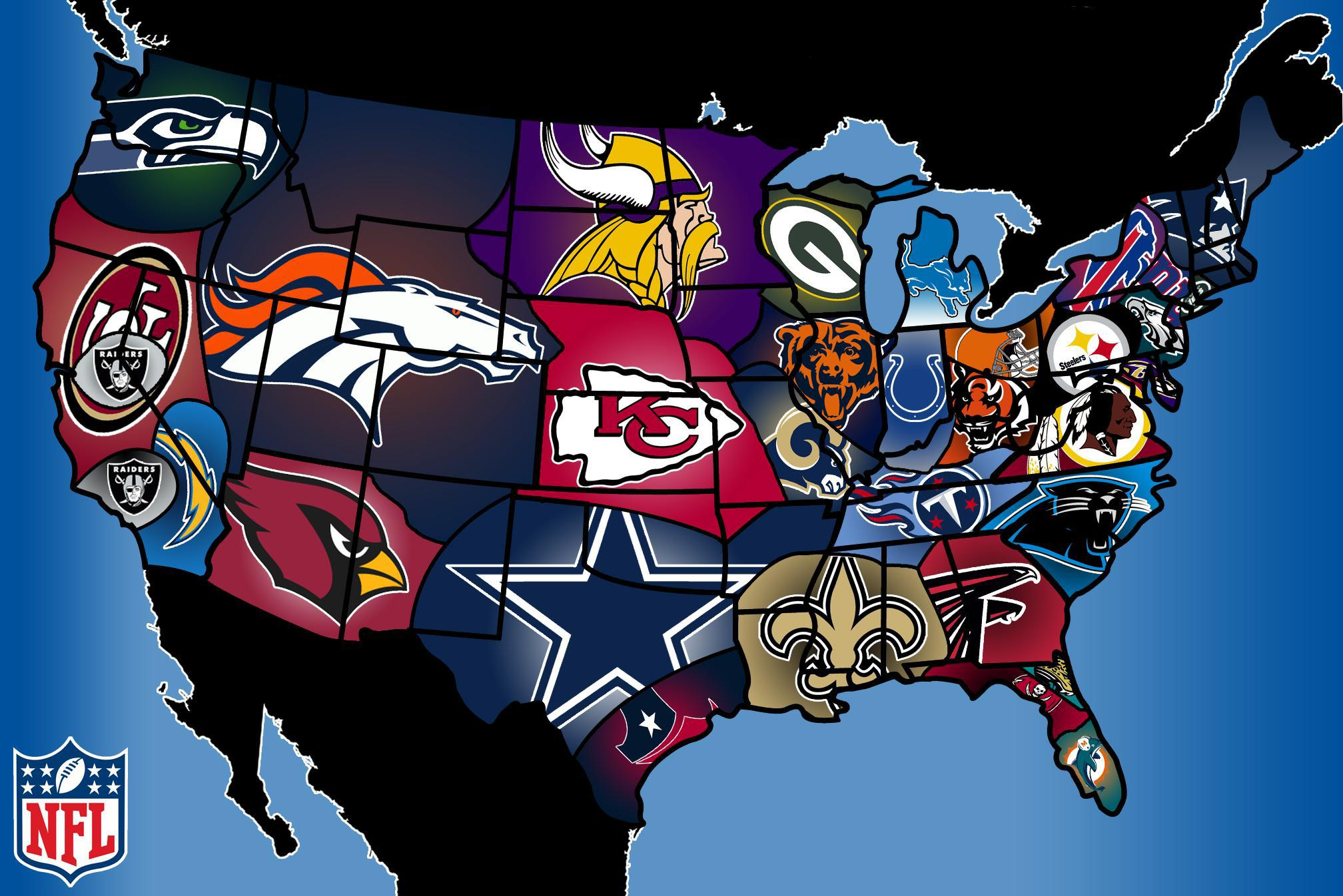The Geography Of NFL Fandom The Atlantic Maps That Explain The - Us map nba teams